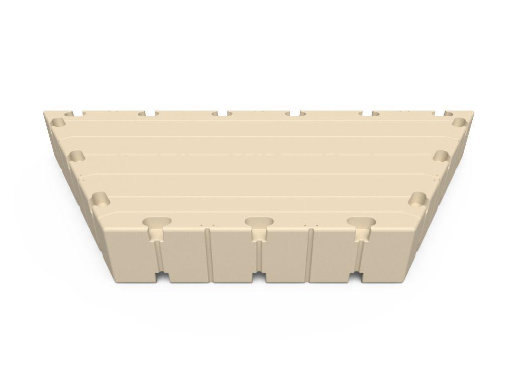 Drijvende steiger half hexagon 300x150x38 cm EZ-Dock